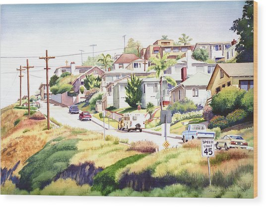 Andrews Street Mission Hills Wood Print