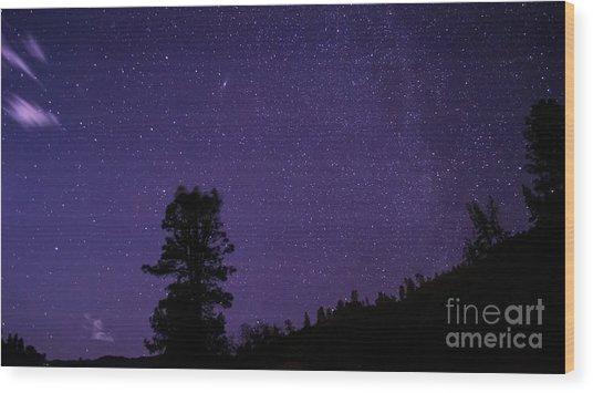 Andromeda Rising Wood Print