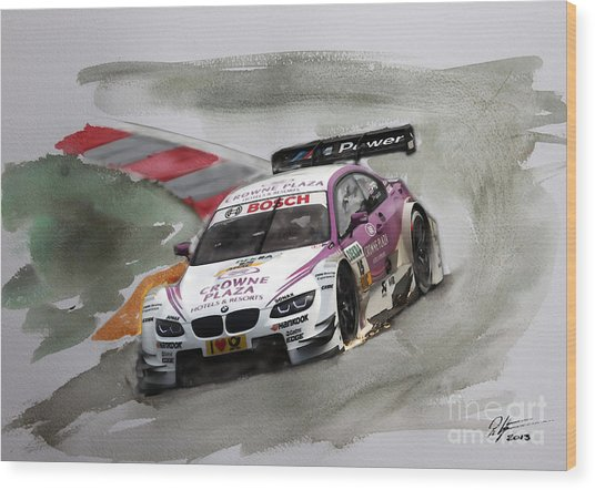 Andy Priaulx Bmw Dtm Wood Print