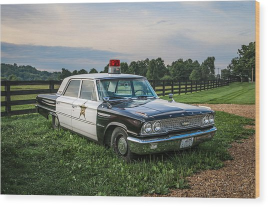 Andy's Car Wood Print by EG Kight