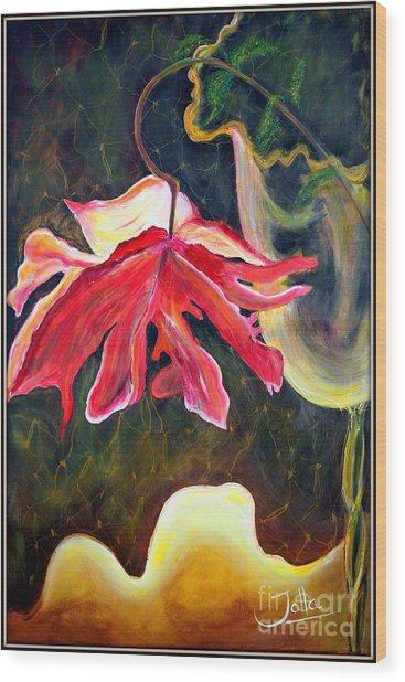 Anemone Me Wood Print