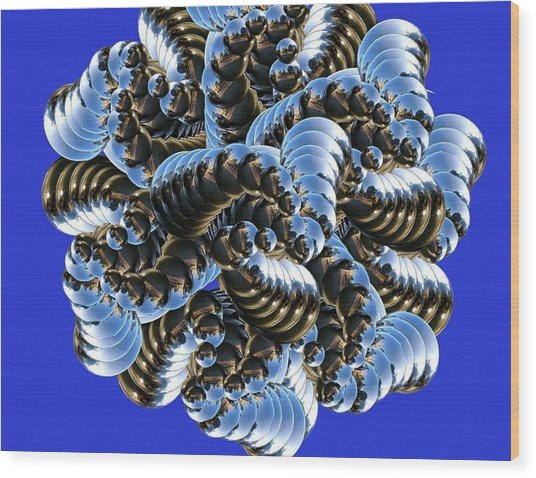 Anemone Wood Print by Soumya Bouchachi