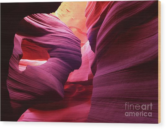 Angel Arch In Antelope Canyon Wood Print