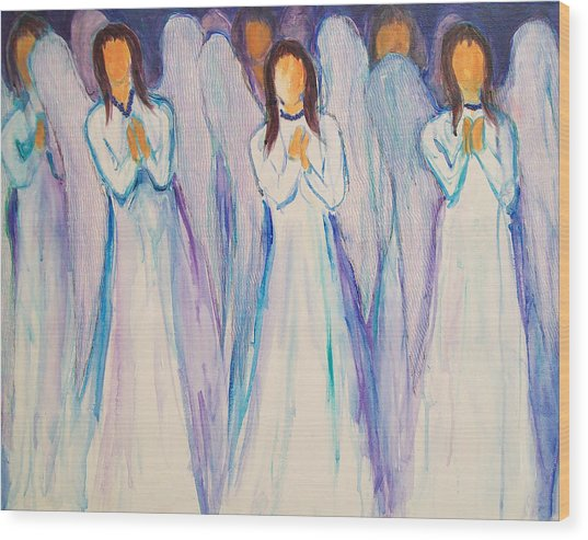 Angel Choir Wood Print