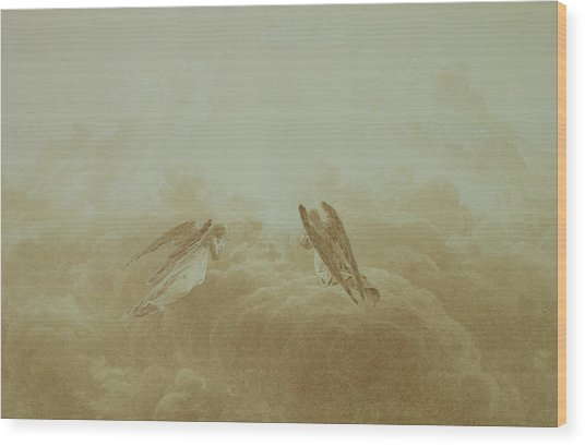 Angel In Prayer Wood Print
