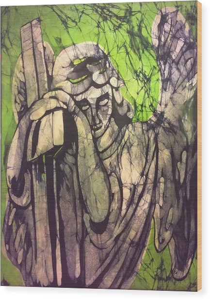 Angel In Prayer Wood Print