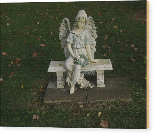 The Angel Is Watching Over Wood Print