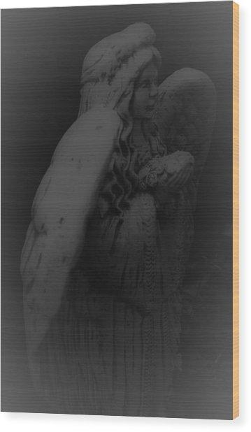 Angel Wood Print by Jennifer Burley