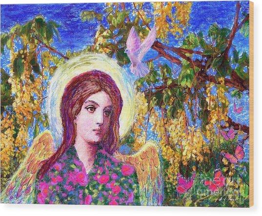 Angel Love Wood Print