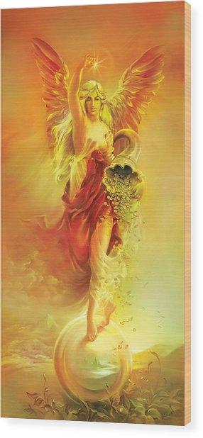 Angel Of Abundance - Fortuna Wood Print