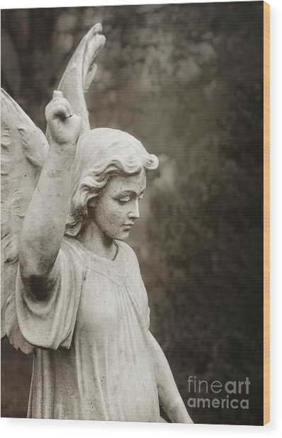 Angel Of Comfort Wood Print