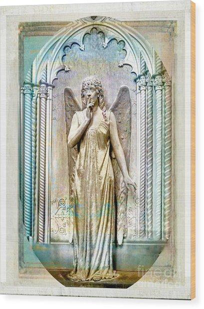 Angel Of Silence.genoa Wood Print