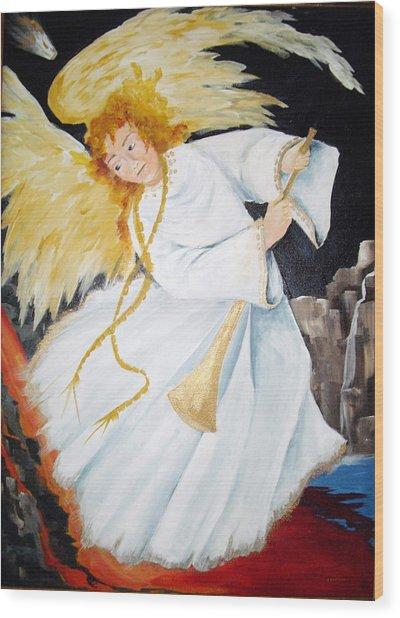 Angel Of The Apocalypse Wood Print