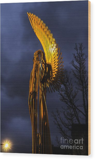 Angel Of The Morning Wood Print