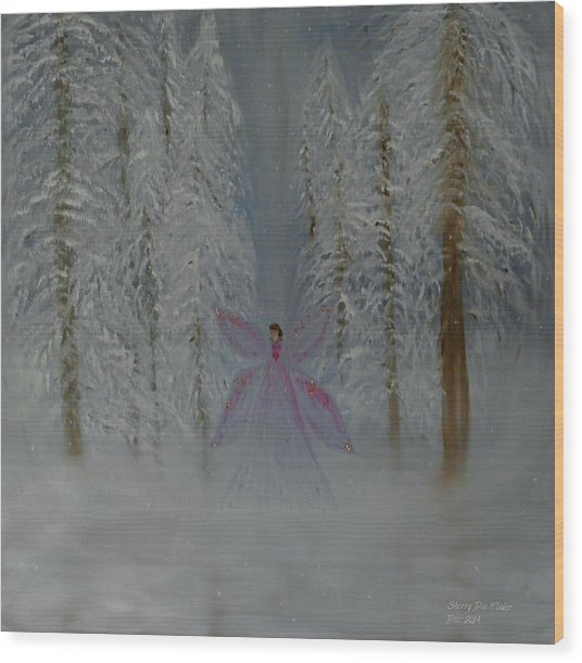 Angel Of Winters Past Wood Print