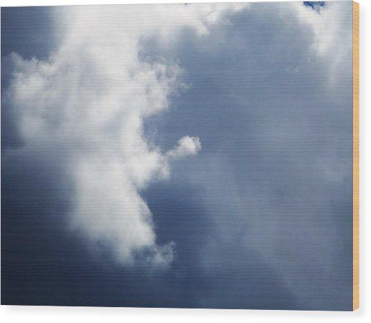 Cloud Angel Kneeling In Prayer Wood Print