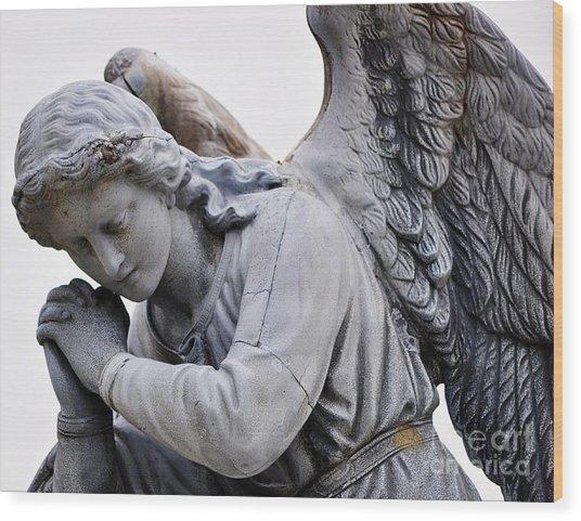 Angel Praying 2 Wood Print