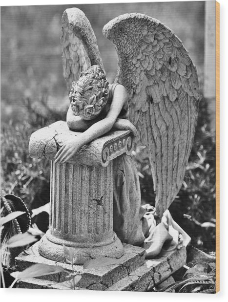 Angel Prays Wood Print by Al Fritz
