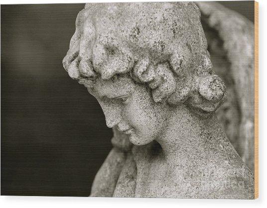 Angel Watching Over Us Wood Print