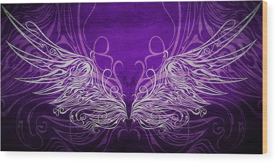 Angel Wings Royal Wood Print