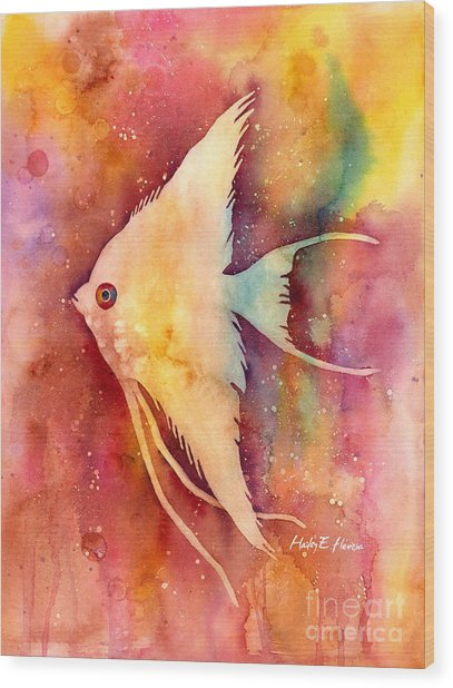 Angelfish II Wood Print