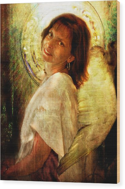Angelic Repose  Wood Print