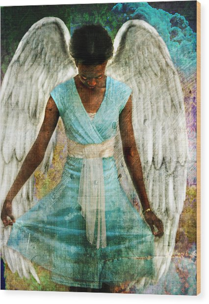 Angelic Thanks Wood Print