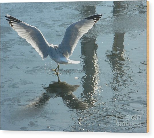 Angelic Wings Wood Print