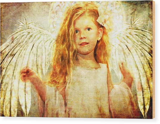 Angelic Wonder Wood Print