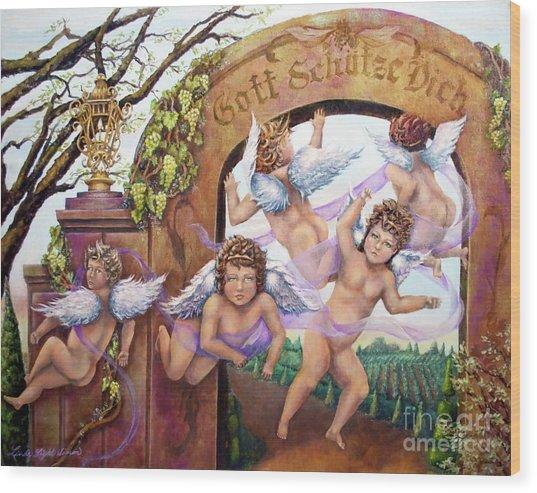 Angelika Wood Print