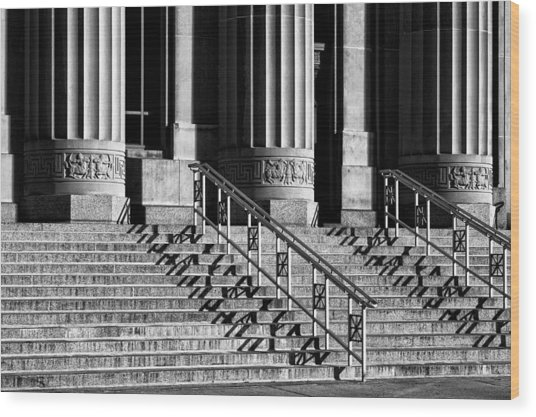 Angell Hall Steps Wood Print