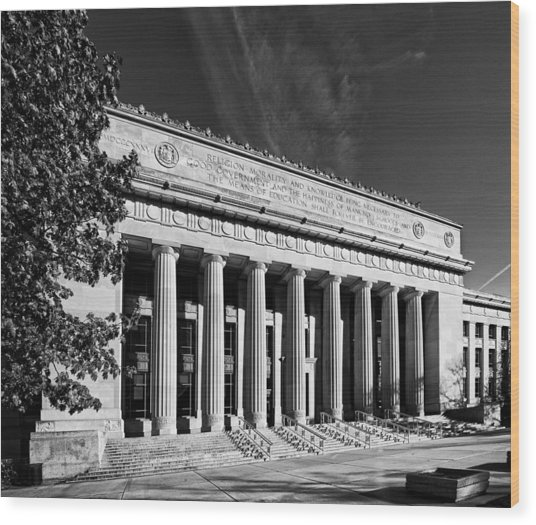 Angell Hall - University Of Michigan Wood Print