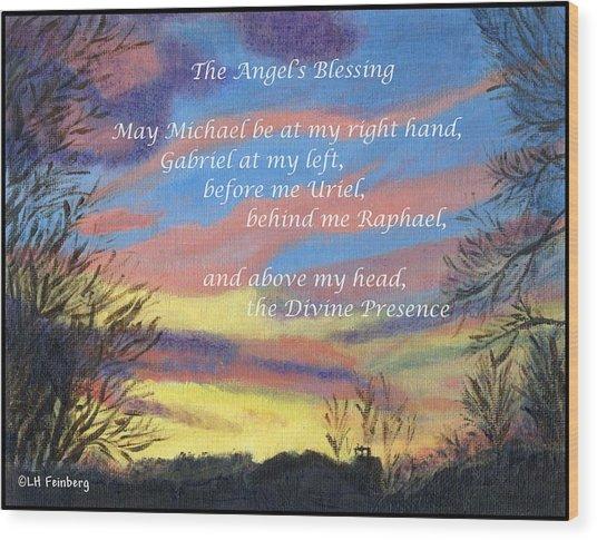 Angel's Blessing Wood Print