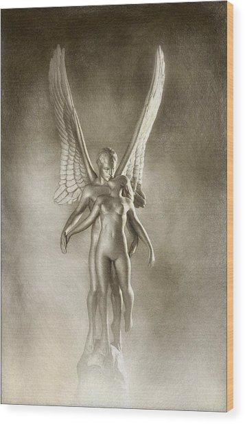 Angel's Kiss Wood Print