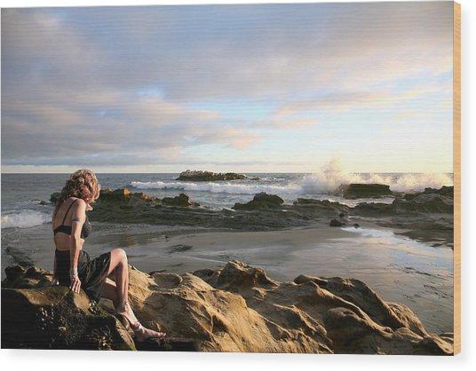 Angels- Vina On The Rocks Wood Print