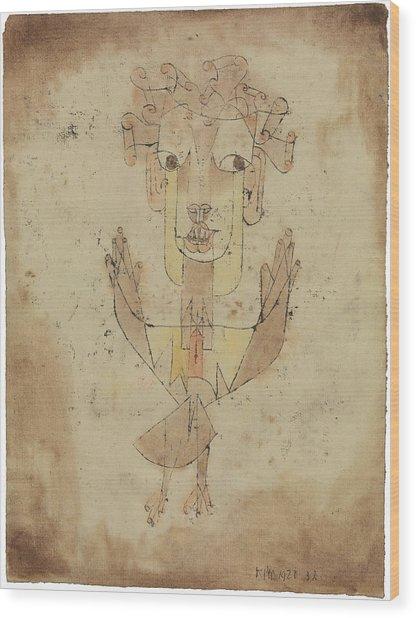 Angelus Novus Wood Print