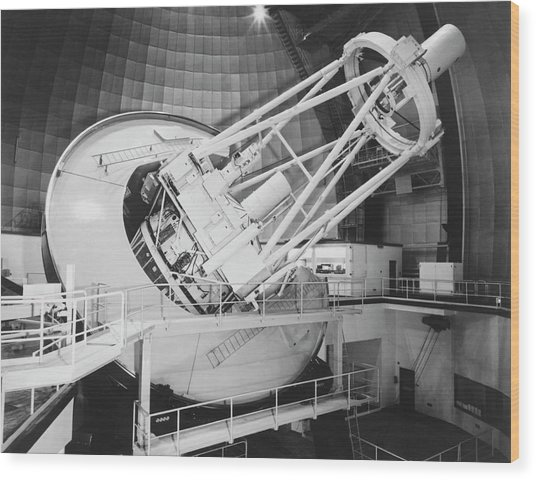 Anglo-australian Telescope Wood Print by Royal Astronomical Society/science Photo Library