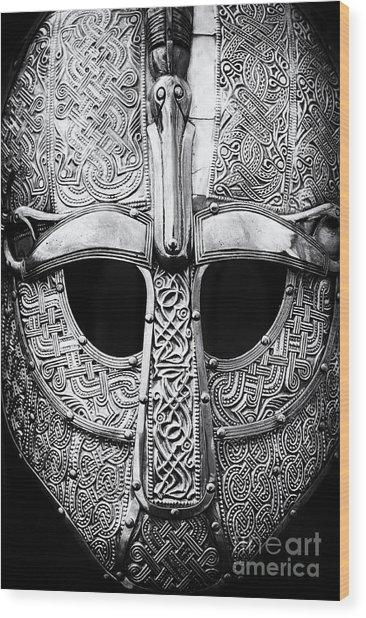 Anglo Saxon Helmet Wood Print