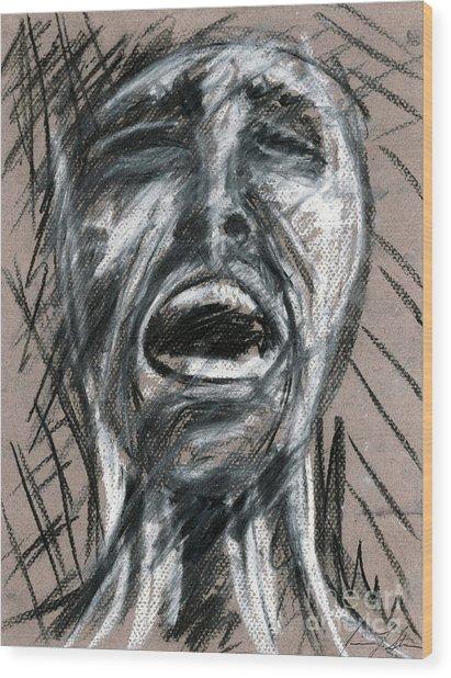 Anguish Wood Print by Jessica Sturges