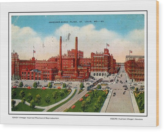 Anheuser Busch Plant 1943 Wood Print