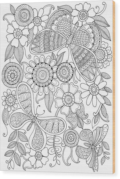 Animal Butterflies Wood Print