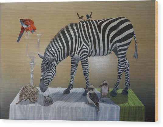 Animal Curiosity Wood Print by Clive Holden