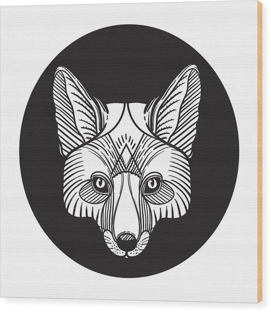 Animal Fox Head Print For Adult Anti Wood Print