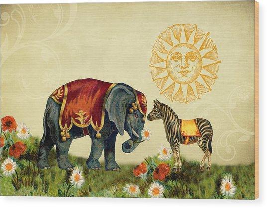 Animal Love Wood Print