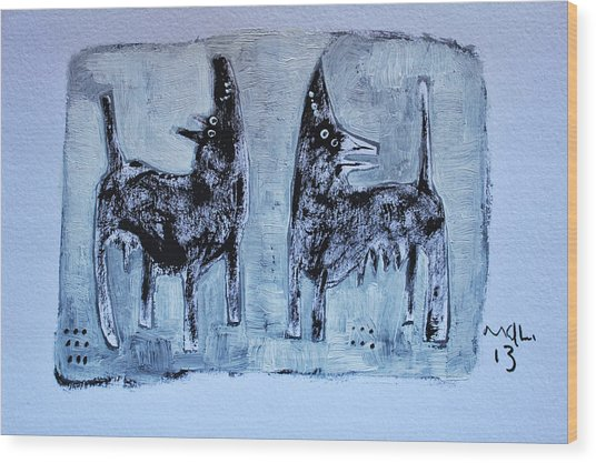 Animalia Canis No. 1 Wood Print
