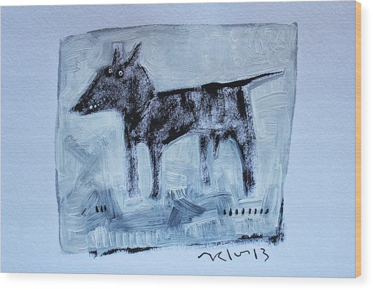 Animalia  Canis No 2 Wood Print