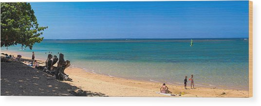 Anini Beach 2 Wood Print