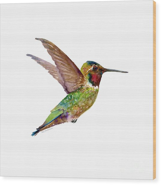 Anna Hummingbird Wood Print