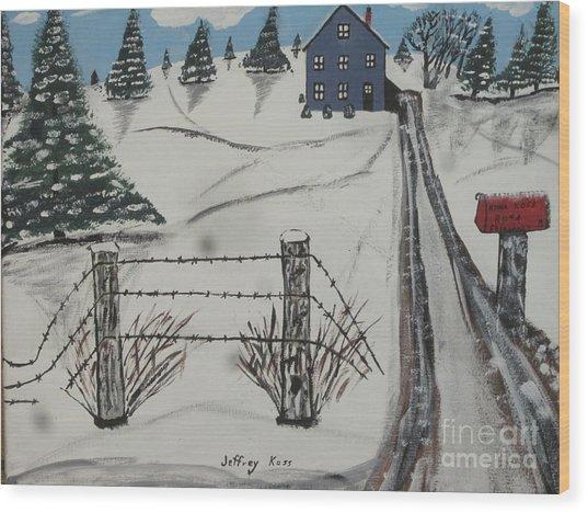 Anna Koss Farm Wood Print