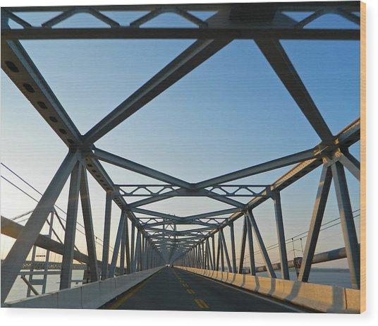Annapolis Bay Bridge At Sunrise Wood Print